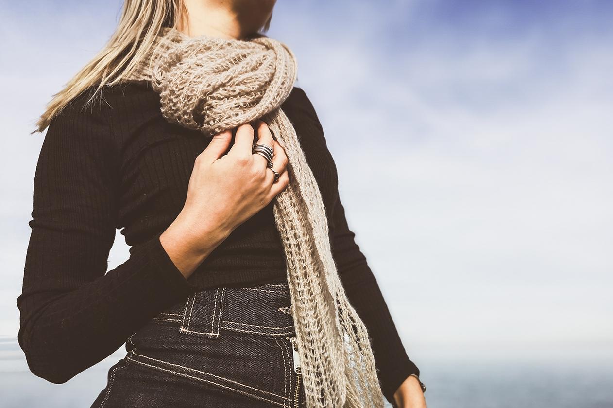 cashemere silk brushed gauze scarf